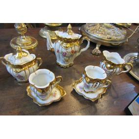 Exquisito Juego De Cafe Tu Y Yo Florcitas Filete Oro Oferta