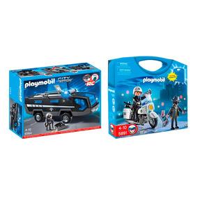 Playmobil Policías Auto Unidad Especial 5564 + Maleta 5891