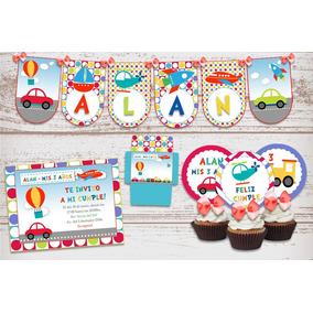 Kit Imprimible Autitos Infantiles Autos Cumpleaños Nene