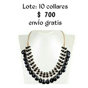 Collares De Moda Mayoreo Lote 10 Piezas !!!