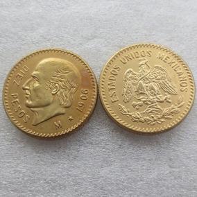 10 Pesos Hidalgo, Baño De Oro, Réplica