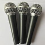 Micrófonos Dinámico En Maletin 3 Mic + 3 Cables + 3 Pipetas