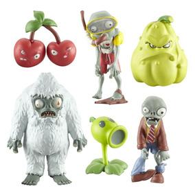 Colección De 6 Figuras De Plantas Contra Zombies.