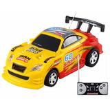 Mini Carro Lata Refrigerante Controle Remoto Modelo Amarelo