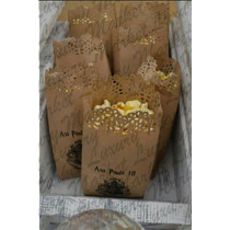 Bolsas Palomitas Papel Kraft Troquelada Personalizada 24pzas