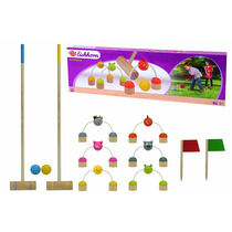Juego De Croquet De Madera Infantil