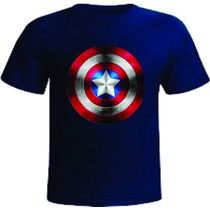 Camiseta Capitão América Super Heróis Vingadores Dc Marvel