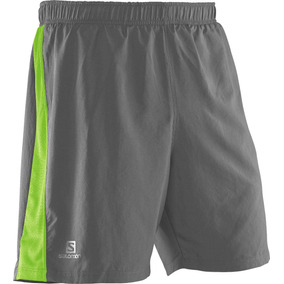 Short Masculino Salomon - 4 Way Short M Gris/verde- Running