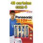 Pilha Aa Panasonic (pequena) Power Alcalina - 48 Cartelas