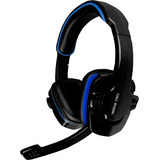 Diadema Gamer Eagle Warrior Hs-501 Azul - Microfono Abatible