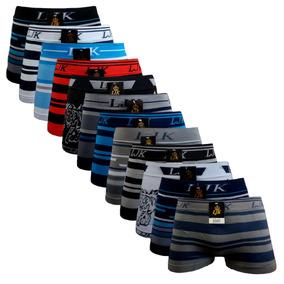 Kit 10 Cuecas Box Boxer Originais Men Sem Costura