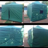 Tenda Sanfonada Barraca Estilo Camping 3x3m C/ 4 Fechamentos