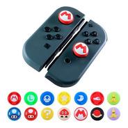 2 Gomas Mario Bros Control Joystick Switch Thumb Protector