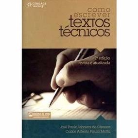Livro Como Escrever Textos Técnicos José Paulo Moreira