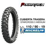 Cubierta Michelin Starcross 5 Medium Trasera 110 / 90 - 19