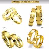 Argollas Alianzas De Matrimonio Oro Amarillo 18k C/u Joya