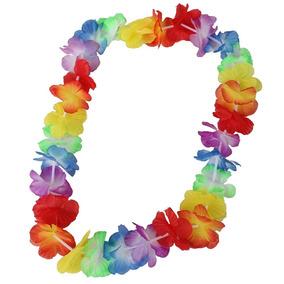 10 Collar Hawaiano Flores Fiesta Batucada Boda Promocion