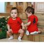 Body Bebê Criança Macaquinho Macacão Com Capuz Polo Infantil