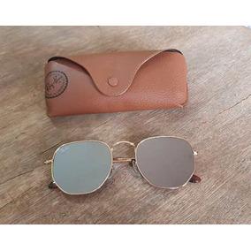 67aa6af9bb11b Oculos Ray Ban Hexagonal Espelhado Prata - Óculos De Sol Outros ...