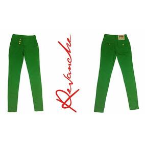 Calças Femininas Revanche Jeans Colorida Verde / Azul