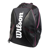 Mochila Wilson Tour Backpack Preto/pink