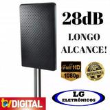 Antena Amplificada Hdtv Uhf Digital Interna Externa 28db Mxt