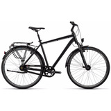 Bicicleta Híbrida Cube Town Black. Talles 46 Y 50