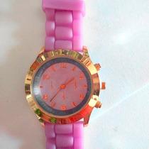 Reloj Geneva Con Correa De Silicona Unisex Varios Colores