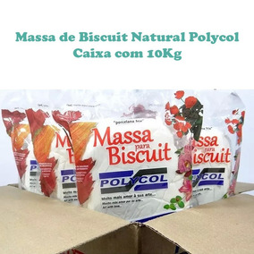 Massa De Biscuit Natural Polycol - Caixa Com 10kg