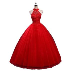 Vestido Debutante Vermelho 34 36 38 40 42 44 46 48 - Vs00184