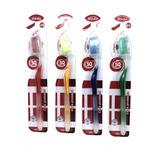 12 Escovas De Dente (media)c/limpa Língua E Capa Protetora
