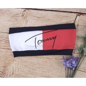 Cropped Top Blusa Inspiração Tommy Hilfiger Frete Gratis