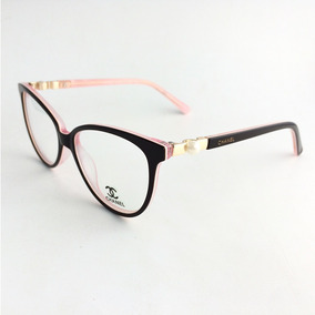 Armação Oculos Chanel P/ Grau Com Perola Feminino Ch3316