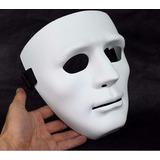 Mascara Blanca Negra Colores Sin Expresión Teatro Mimo
