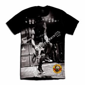 Kit 2 Camisetas Guns And Rose Rock Slash Guitar Banda Show