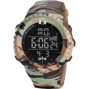 6d80c888b6445 Relógio Digital E Analógico Militar Ots Original 50 Metros