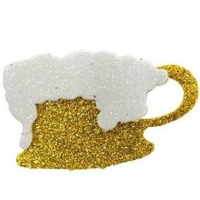 6 Enfeites Em Eva Chop Com Glitter Festa De Boteco