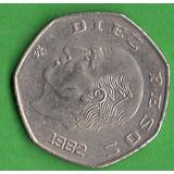 Moneda Dies $10 Pesos Hexagonal Hidalgo 1982 C11