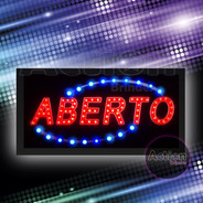 Painel De Led Letreiro Luminoso Placa Aberto - 110v