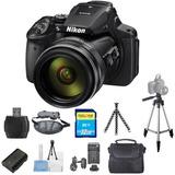Nikon Coolpix P900 16mp Cámara Digital (negro) Starter Bundl