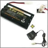Bateria Para Carrinho 9,6v 2200mah + Carregador 9,6v