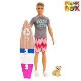Boneco Ken Surfista Fbd71 Barbie Mattel