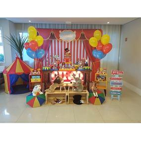 Aluguel Decoração Festa Circo Luxo Com Balões (locação Sp)