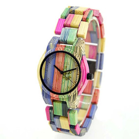 Reloj De Mujer De Madera Bewell Colores