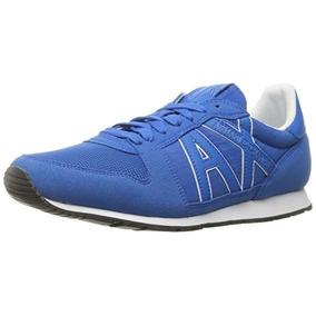 Tenis Armani Exchange A|x Azules. Talla 7