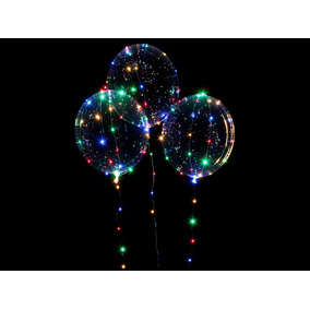 Balão Transparente Com Led Pisccristal Bobo Ballon 45 Cm 18