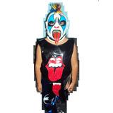 Traje Y Mascara Modelo Original D Luchador Psycho Clown Niño