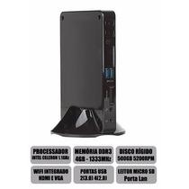 Mini Cpu Nano Pc Intel Dual Core, 4gb Ram, Hd 500gb, Wifi,