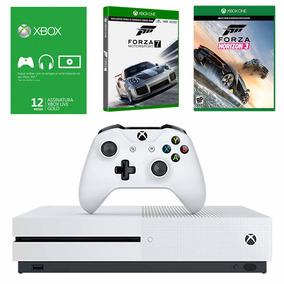Cb Xbox One S 500gb+forza Horizon 3+forza 7+live 12 Meses