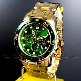 2c8bf36ba72 Relogio Invicta Original Masculino Banhado A Ouro - Relógios De ...